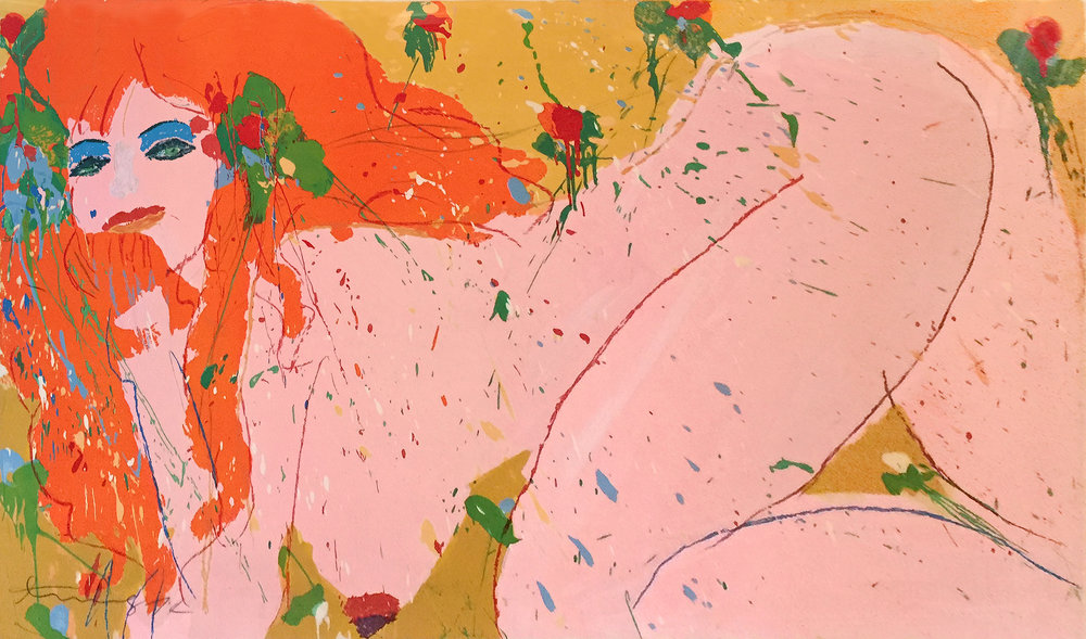 Compliant Nude (ed. 8 of 25), 1974, 61.5 x 36.25 inches, Serigraph (SOLD)