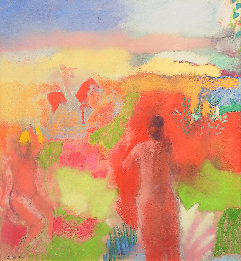 Birth of Venus, 2002, 39.5 x 29.5 inches, Pastel on paper
