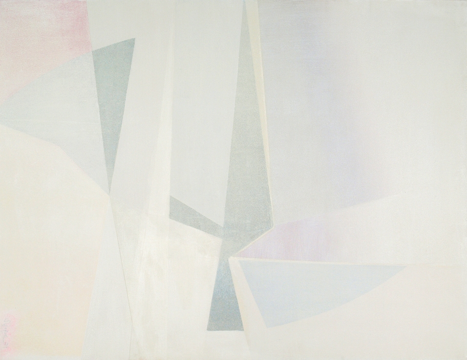 Blanc Ludion, 1993, 35 x 45.7 inches, Oil on canvas