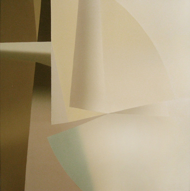 Structure cosmophages (Series C, No.4), 1987, 39.4 x 39.4 inches, Oil on canvas