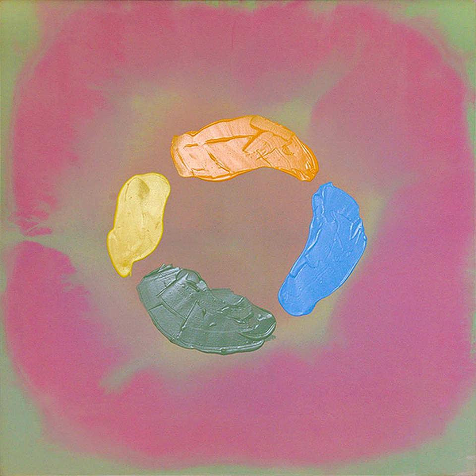 AC-87-016, 1987, 56 x 56 inches, Acrylic on canvas