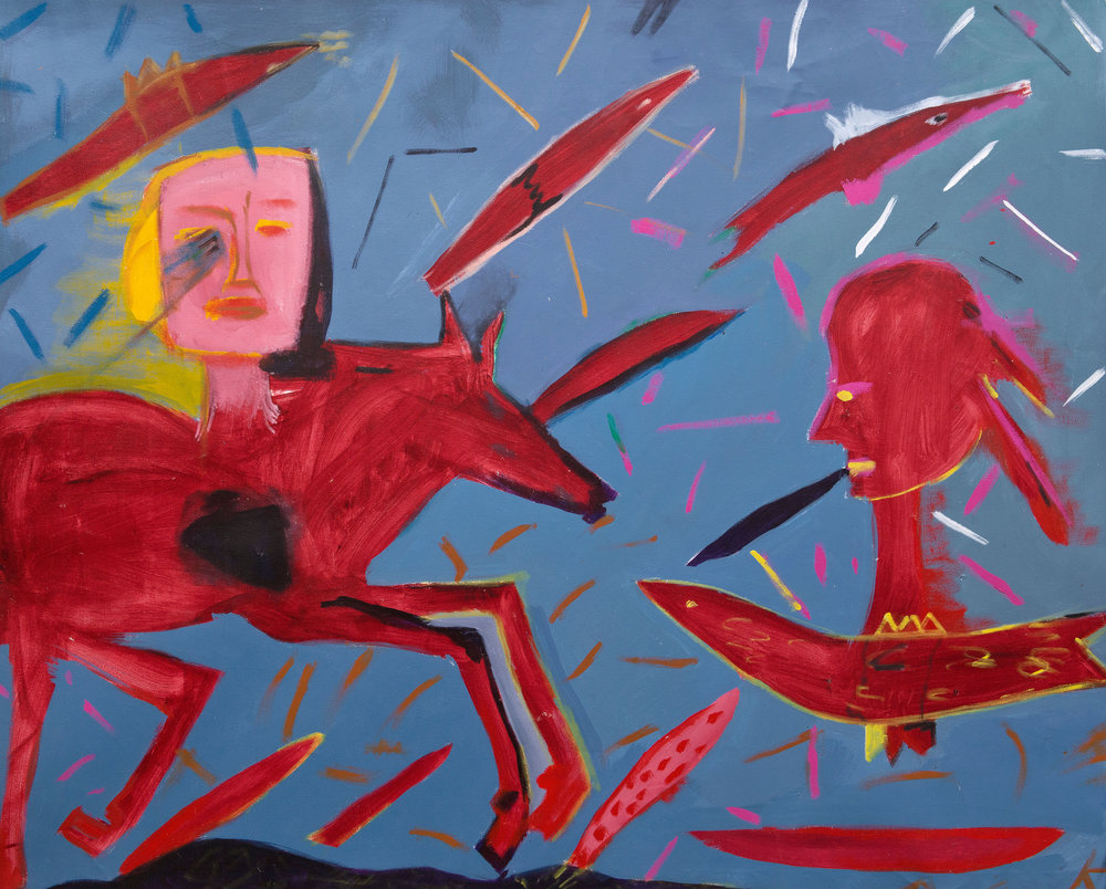 Femmes totem, 2000, 67.5 x 84 inches, Acrylic on canvas