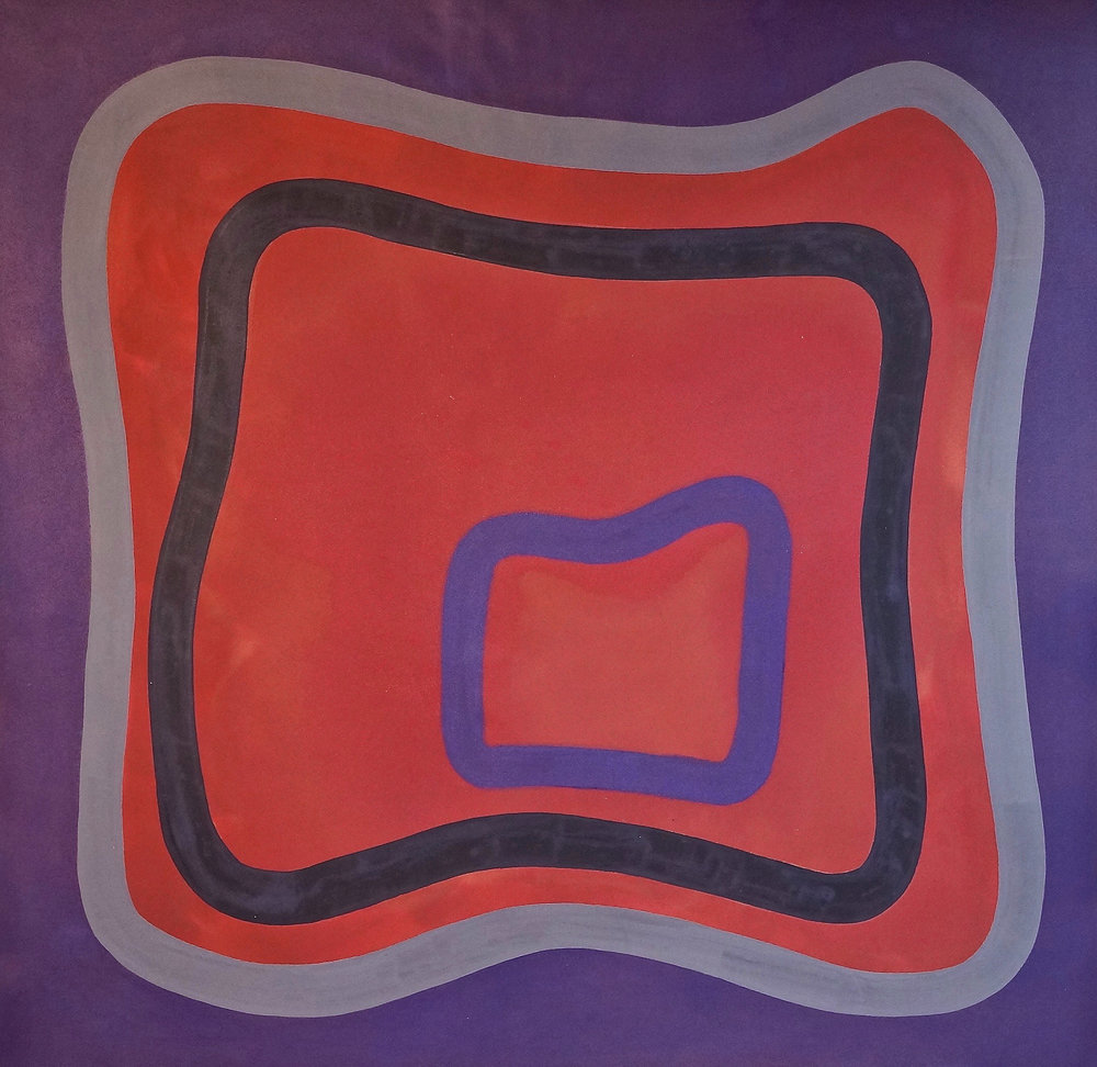AC-90-032, 1990, 68 x 68 inches, Acrylic on canvas