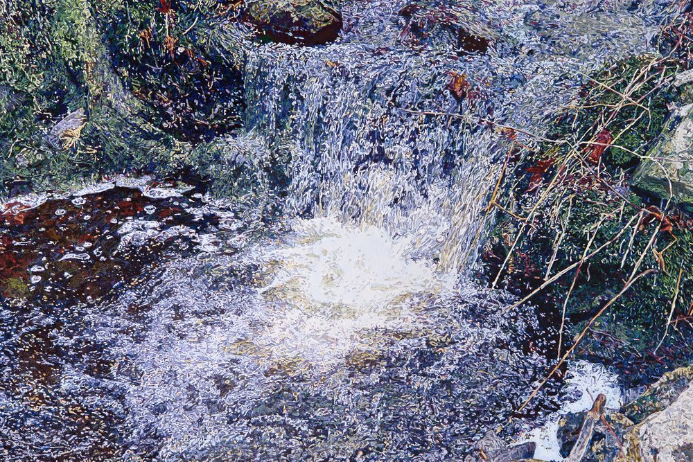 Winter Water, the Torrent, 2018, 46 x 69 in., Oil on canvas