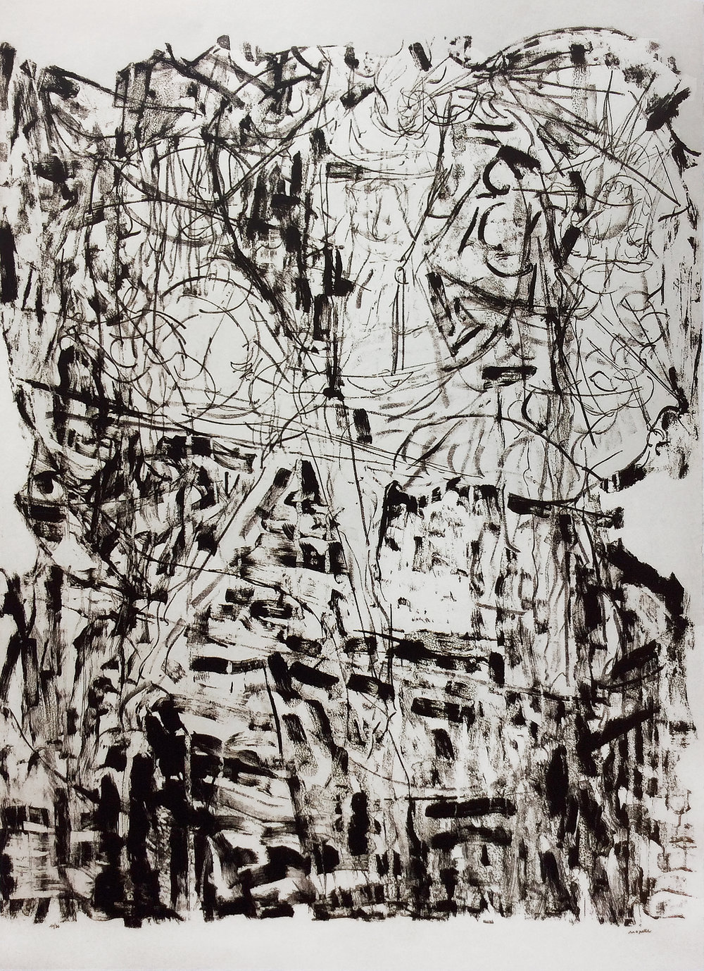 Suite Lachaudière, 1972, 63 x 45.75 in.,	Lithograph on Arches paper (Ed. 12 of 30)