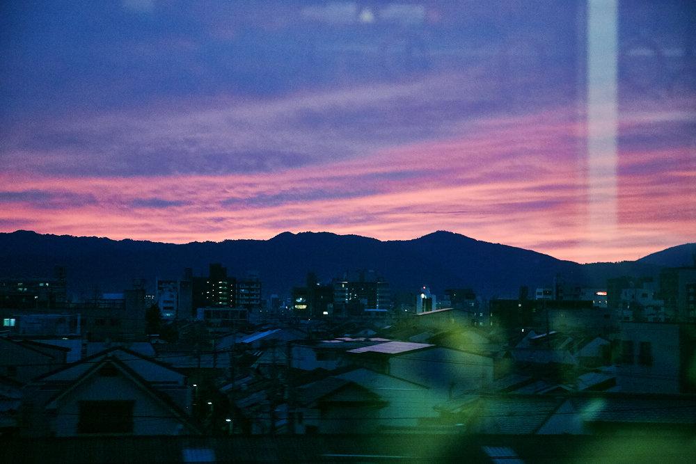 On the Shinkansen, Kyoto, Japan