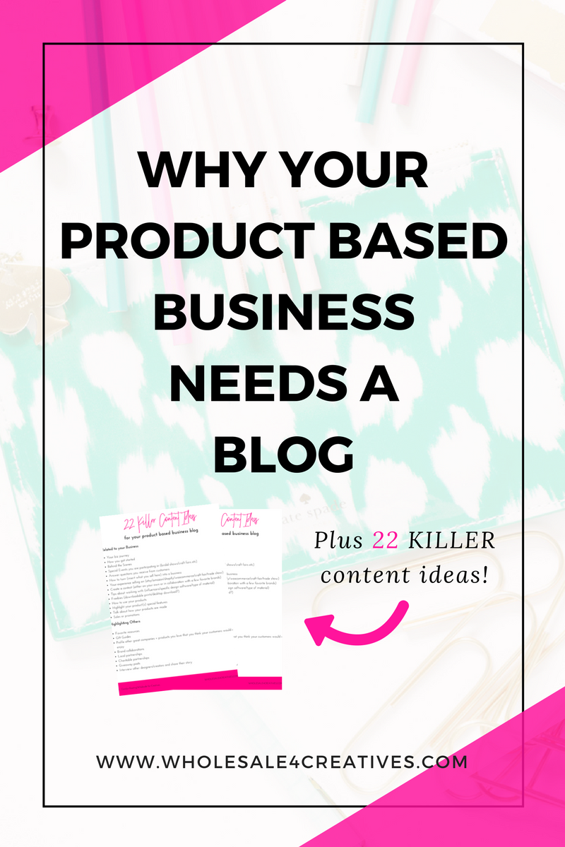 22 KILLER CONTENT IDEAS FOR YOUR PRODUCT BASED BUSINESS BLOG