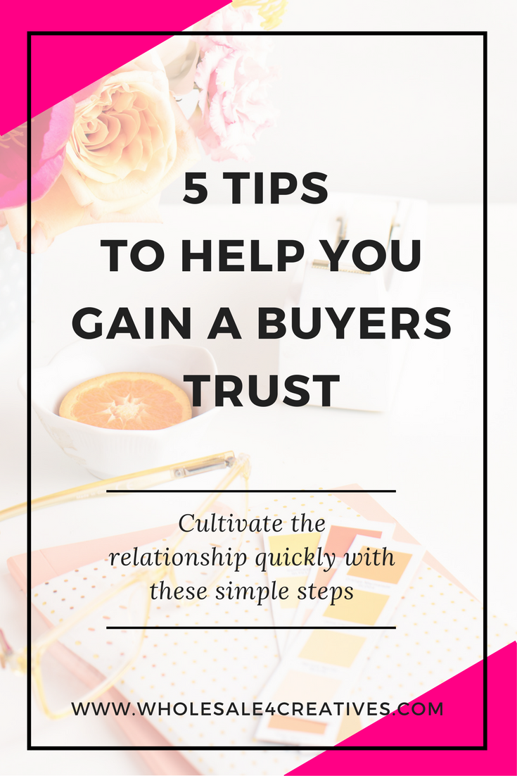 gain your buyers trust when you own a product based business