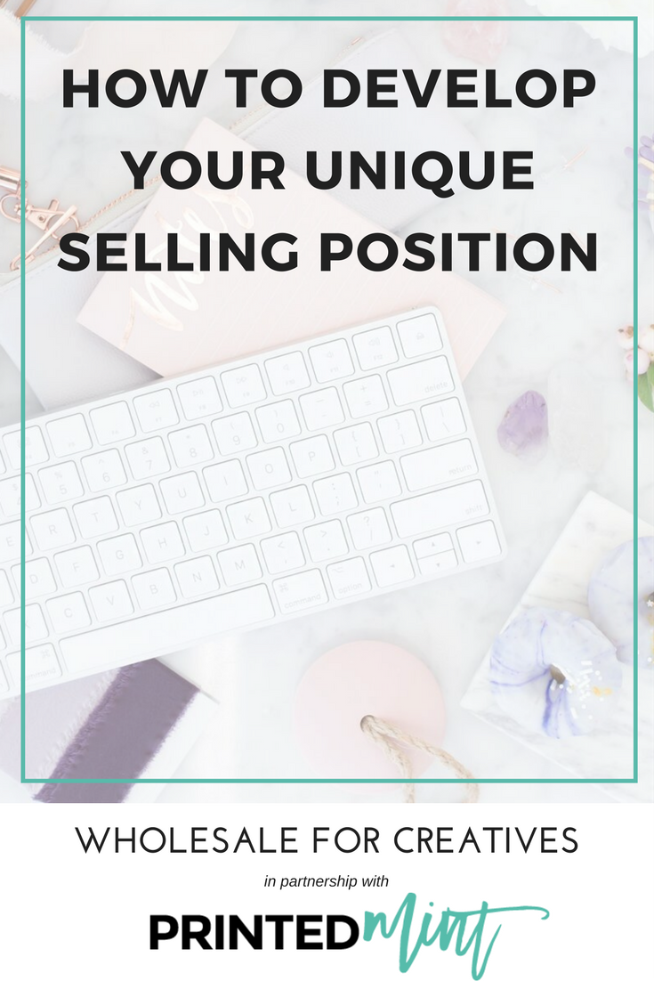develop your unique selling position printed mint