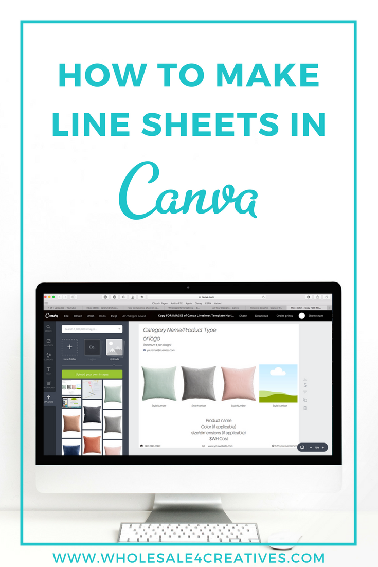 Wholesale for Creatives-How to Make A Line Sheet In Canva