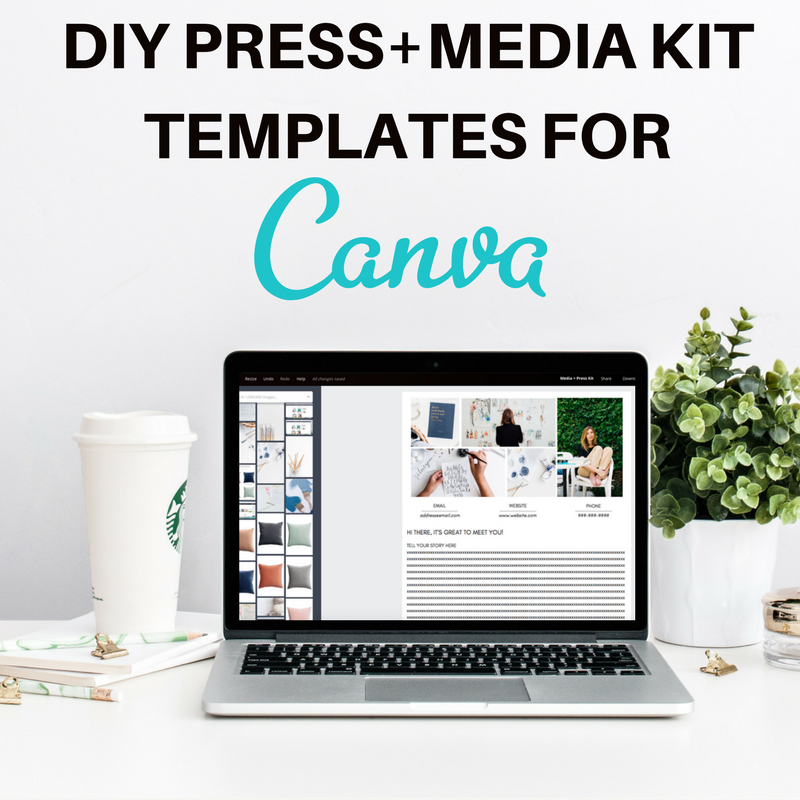wholesale for creatives press media kit templates for canva