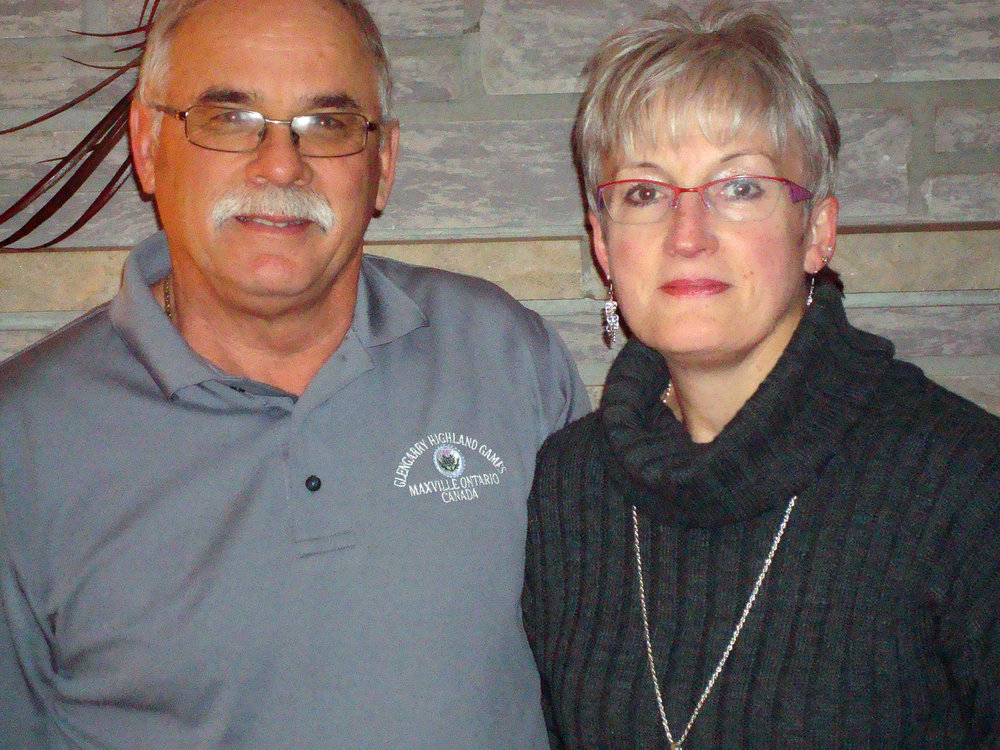 John and Catherine Clemens of Riceville, Ontario. They are the Patrons Program winner of the Trip to Scotland drawn at the 2016 Games.