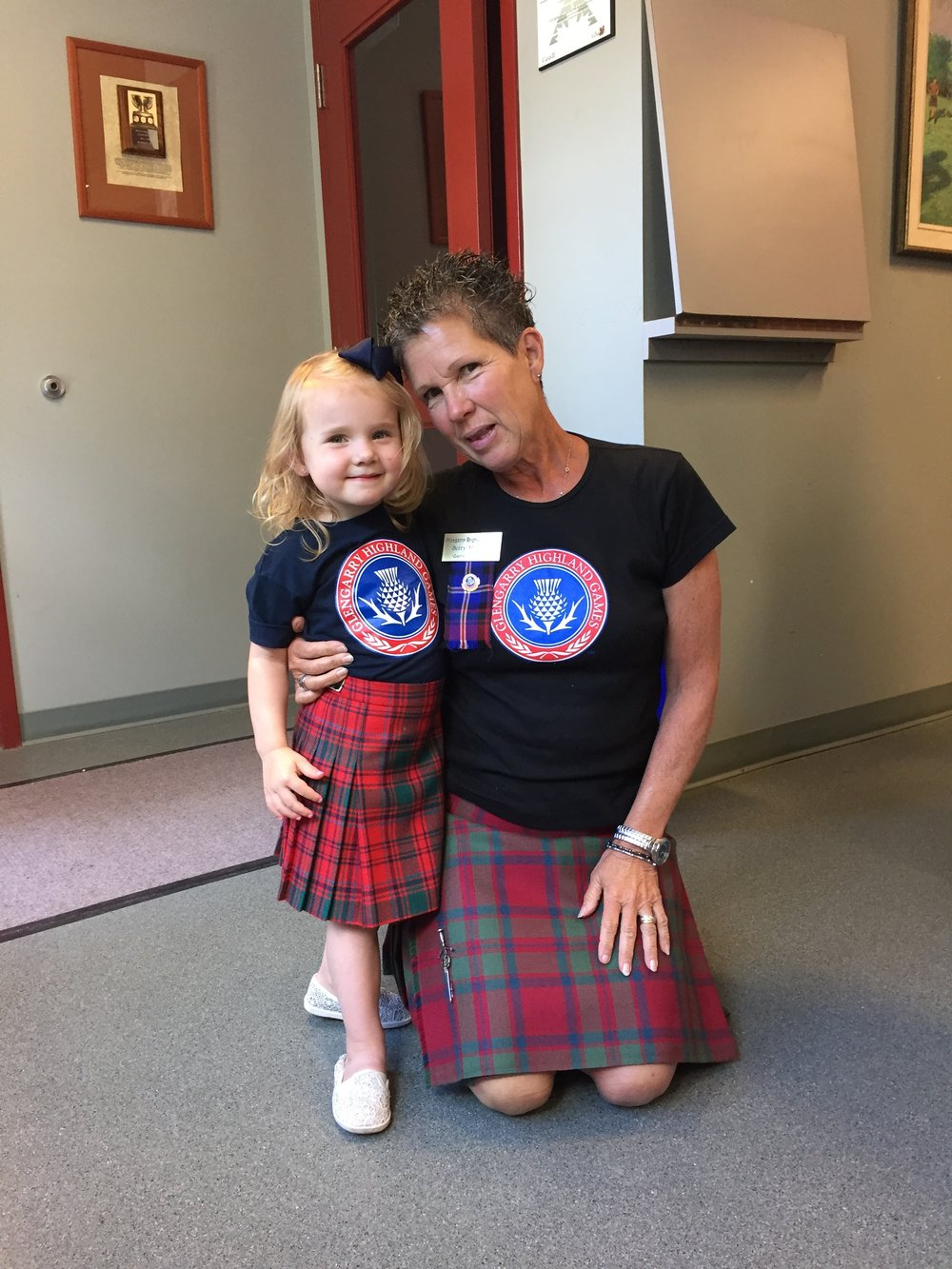 Angie Rae McIntosh for her photos - one of our Games Secretary with her granddaughter, and...