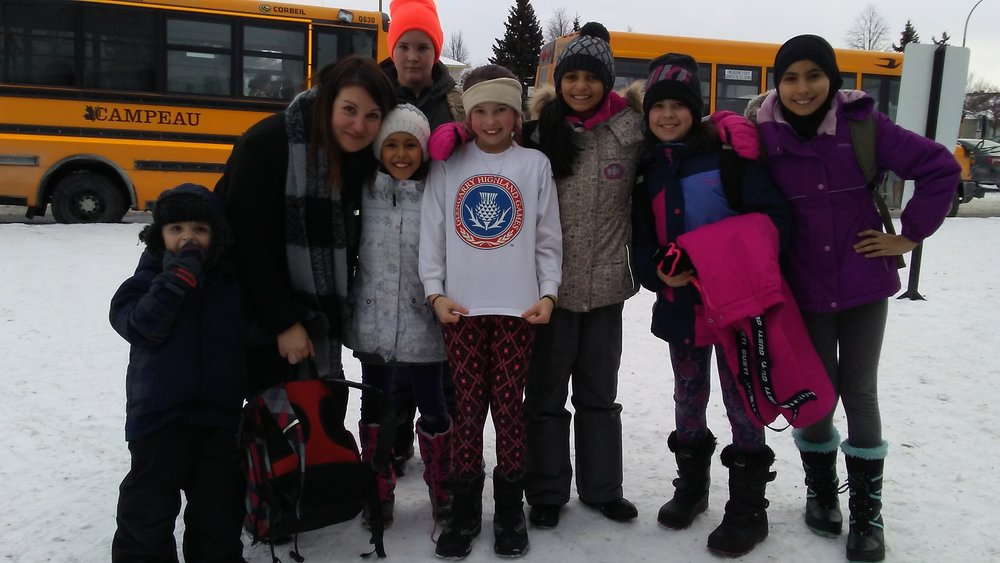 Keith Stuart sends a picture of his daughter, Elizabeth, showing her Glengarry pride with her teacher and classmates at Maurice-Lapointe French Public school