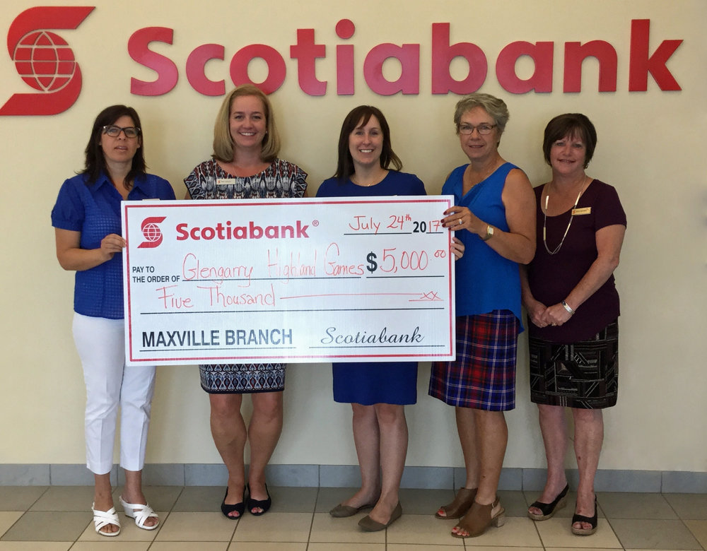 From left to right: Cathy Davidson-Grant, Branch Manager Pam Lecours, Rachel Proudfoot, Games President Anne Stewart, and Joyce Besner