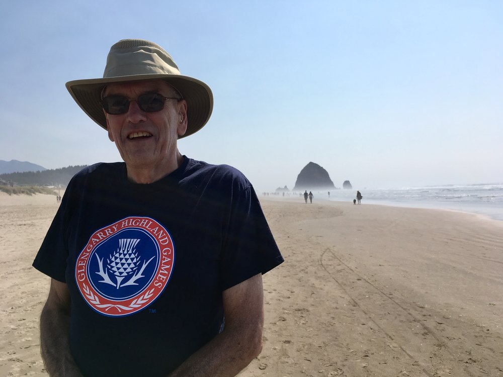 Duncan Mackey at Haystack Rock at Cannon Beach, Oregon