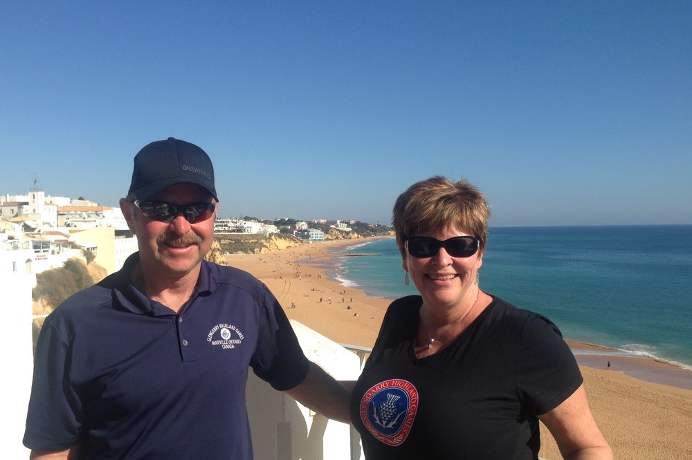 Brian and Karen Campbell from Dunvegan in Albufeira, Algarve, Portugal