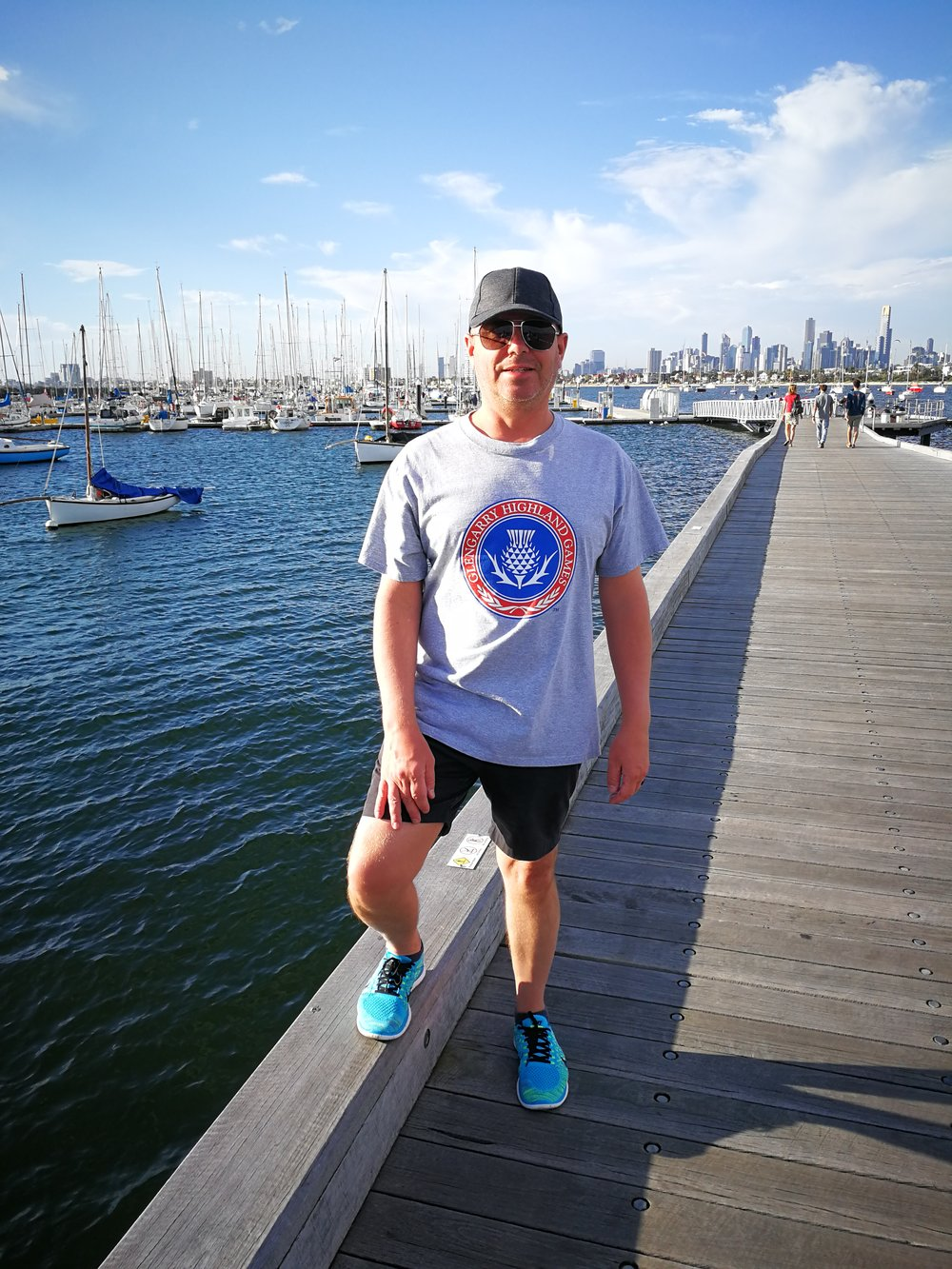 Steve Buchanan while visiting St. Kilda, Melbourne, Australia