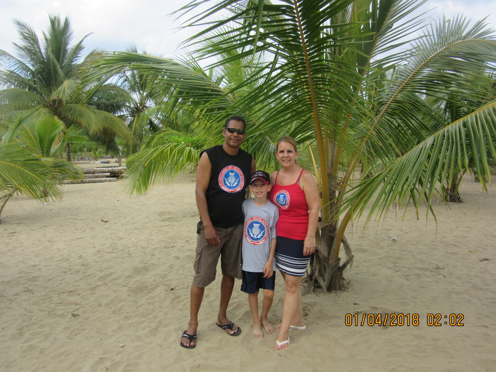 The Tirado family in Nagua, Dominican Republic