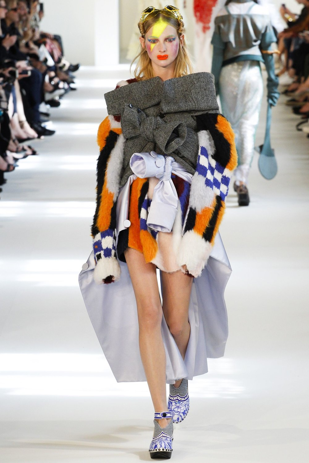 I'm not sure how I would get dressed if this Maison Margiela piece was my outfit of choice. What I do know is that there are no limits to John Galliano's creativity!