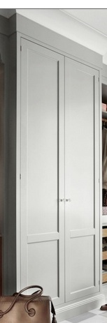 coat closet doors like this but white and no crown at top