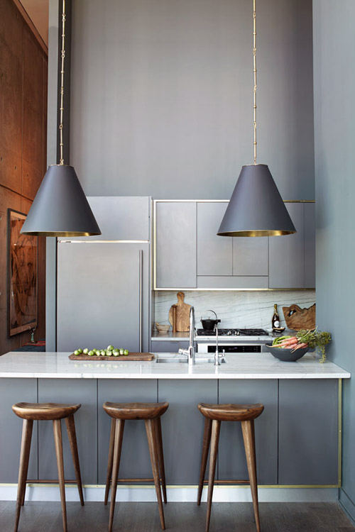 sleek kitchen grey