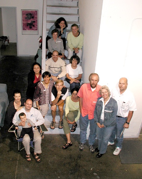 2004  Karen Frankel, Julia Nelson-Gal, Madeline Eitten, Hedda Hope & Son, Christina Velasquez, Terry Acebo Davis, Skip Cantwell, Wendy Lowengrub, Cassie Gay & husband, Doron & Family, Tom built the studio for us with his crew!