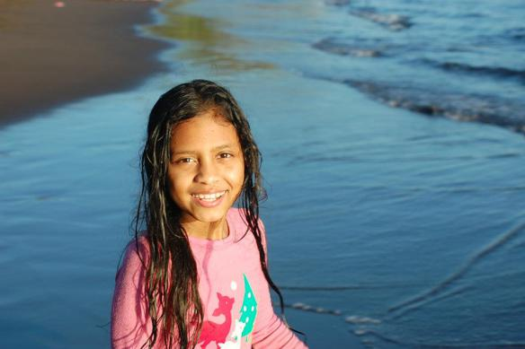 Nayeli at last year's beach Christmas
