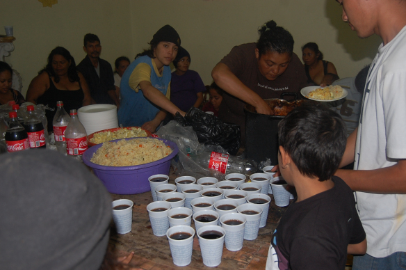 Our Christmas Day 2011 celebration with both residents and friends from the stree