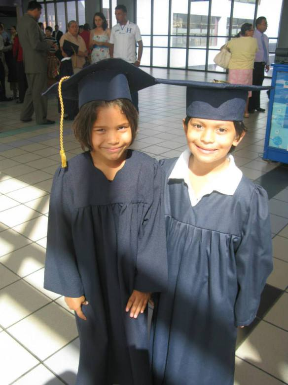 Axel (right) with Dayana following Kindergarten graduation