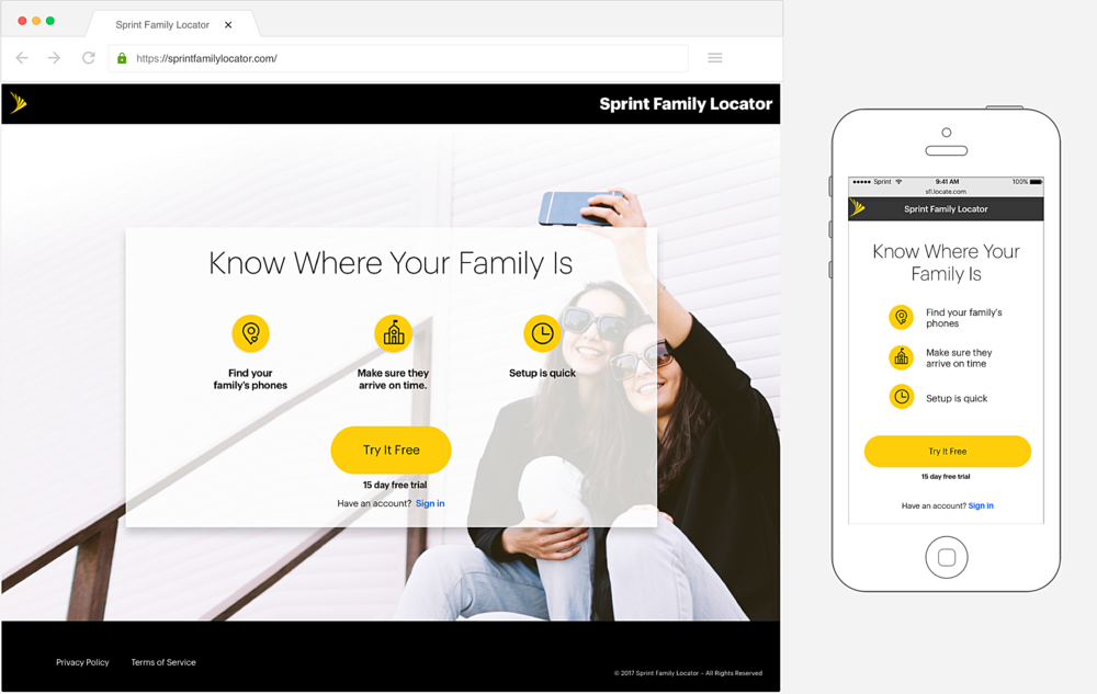 Sfl sprint family locator