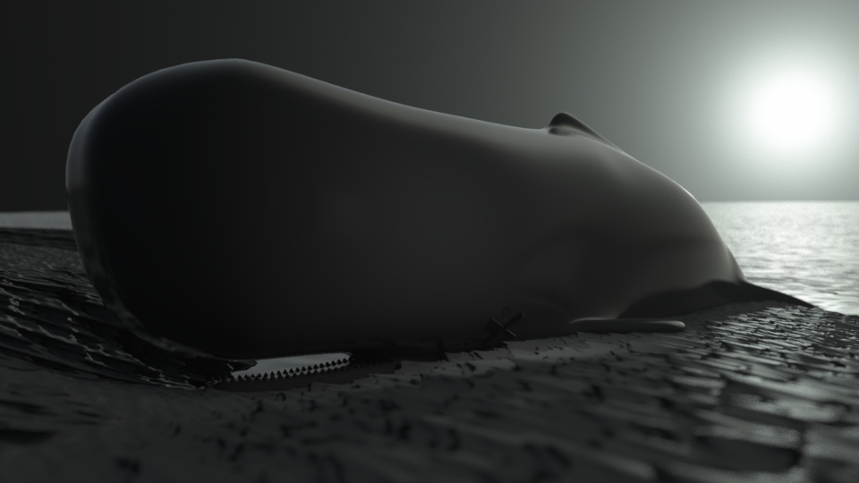 "Concept from a potential short animation. ""Dead Whale"""