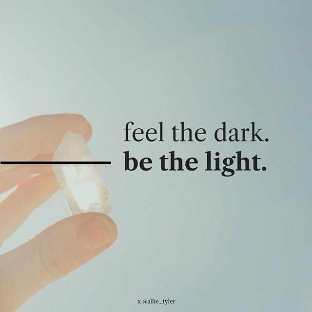 It's been an intense week. 🤛🏻 So rather than bracing for the intensity, what if we EMBRACED the darkness? ⠀⠀ What if we honored our feelings? Leaned in to the wounds? Surrendered to the shit? ⠀⠀ We must feel the dark in order to be light. The less we feel, the more we numb. And truthfully, THAT'S what's keeping us collectively in the dark.  #bethelight