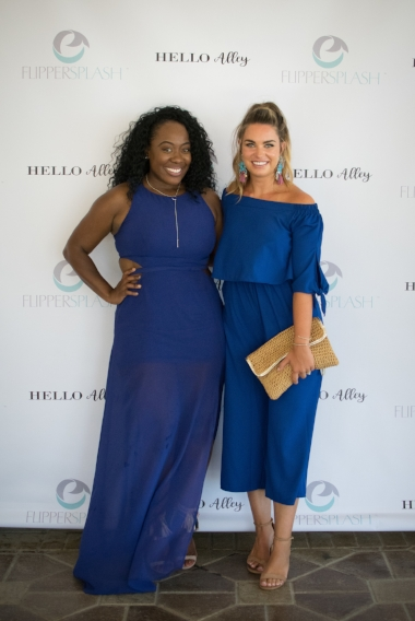 L to R: Trice of www.highheelsandgoodmeals.com on Instagram @WillWorkforHeels and Aubrey of www.helloalley.com on Instagram @Aubrey.Asplen.Alley - Two of my favorite blogger babes in Jacksonville, Florida.  Photo by Marilia Capeli