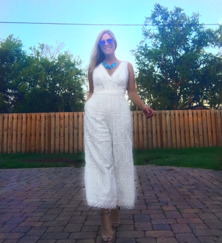 White Temperley London Jumpsuit from Rent the Runway Unlimited. July 2017