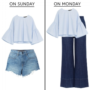 Sunday to Monday - Saturday to Sunday; Samesies.  Image from The Zoe Report
