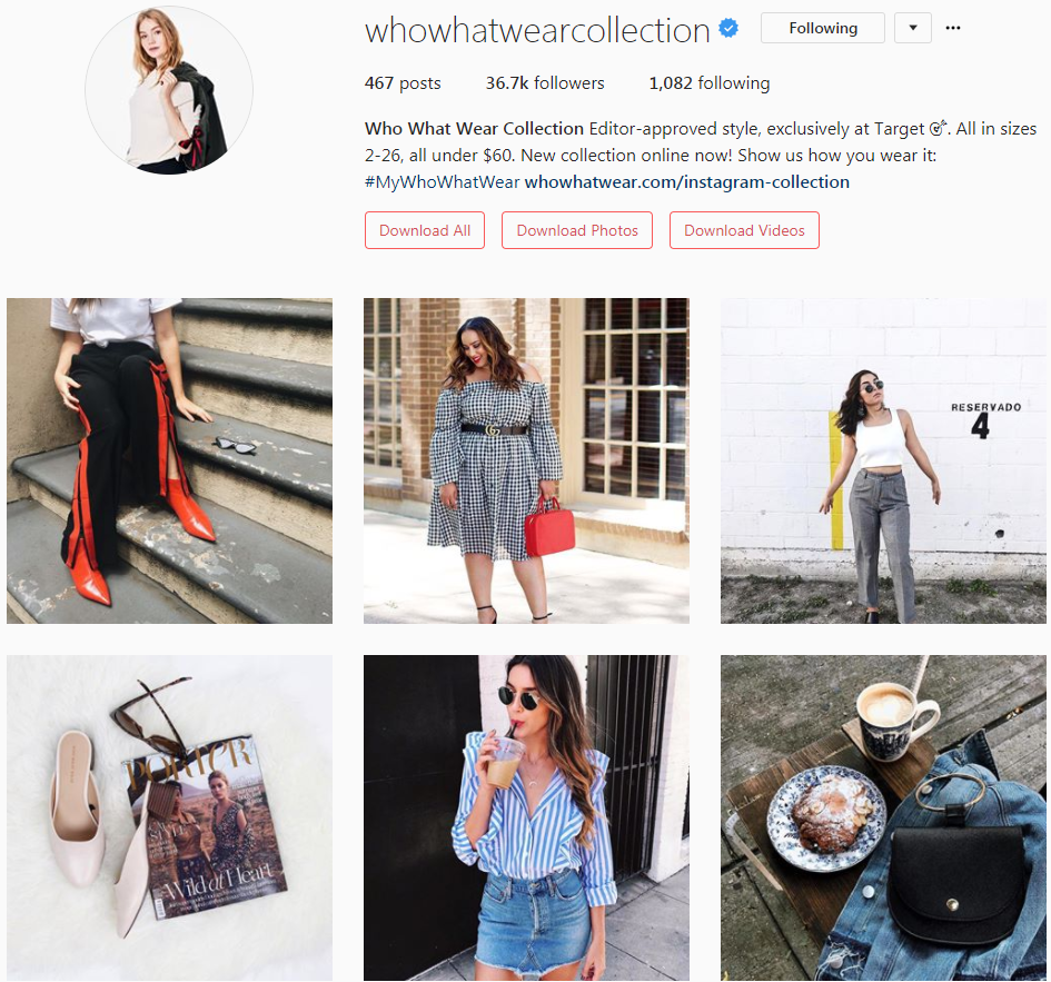 Follow the Who What Wear Collection on Insta for your daily dose of #OOTD inspiration and for street stars showing you helpful tips for how to style their amazing pieces.
