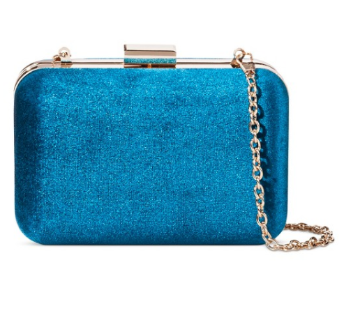 Velvet Hard Case Clutch