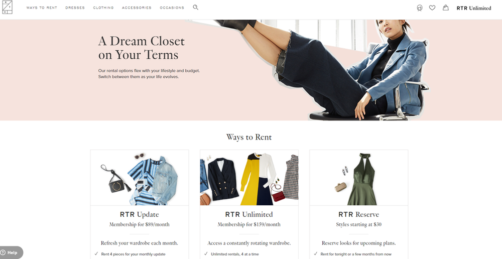 Rent the Runway released new ways to rent your wardrobe. Click the image to find out more or to start your own subscription today.