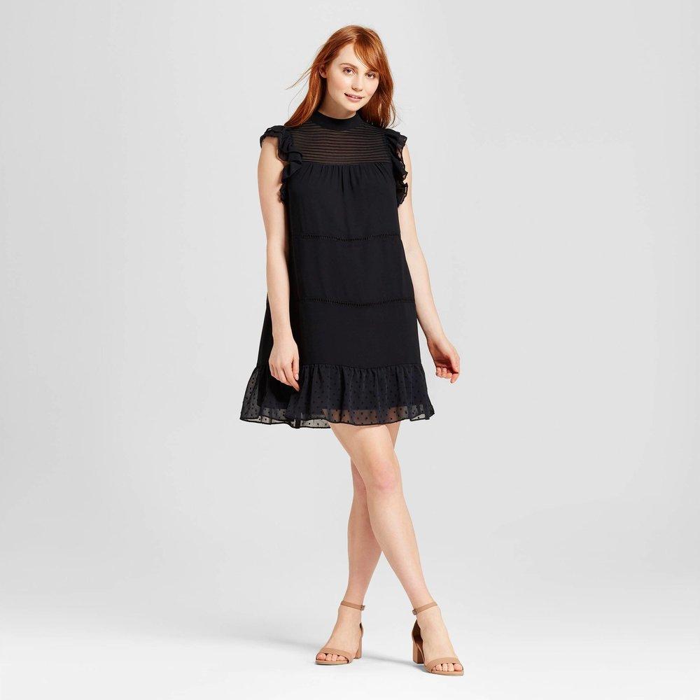 Who What Wear Chiffon Mini Dress