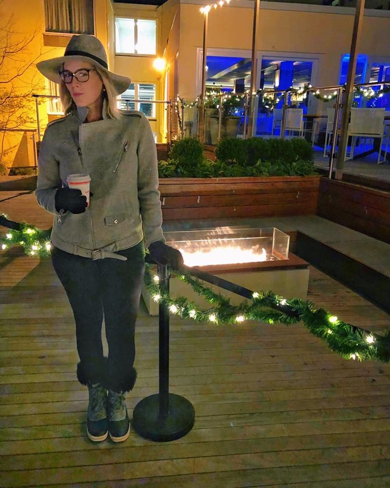 Attending the first annual Lighthouse lighting at Gurney's Newport in November 2017. Yes, the wind coming off the water whipped my face into a frozen mess. It makes you feel like you got botox but without the wrinkle diminishing effects. Just frozen face.