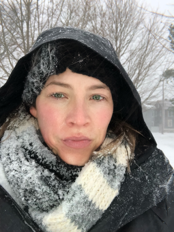 #IWokeUpLikeThis Minus the frozen eyelashes. Y'all, it's FLIPPING FREEZING in this picture. The Great Blizzard Bomb Cyclone of 2018.