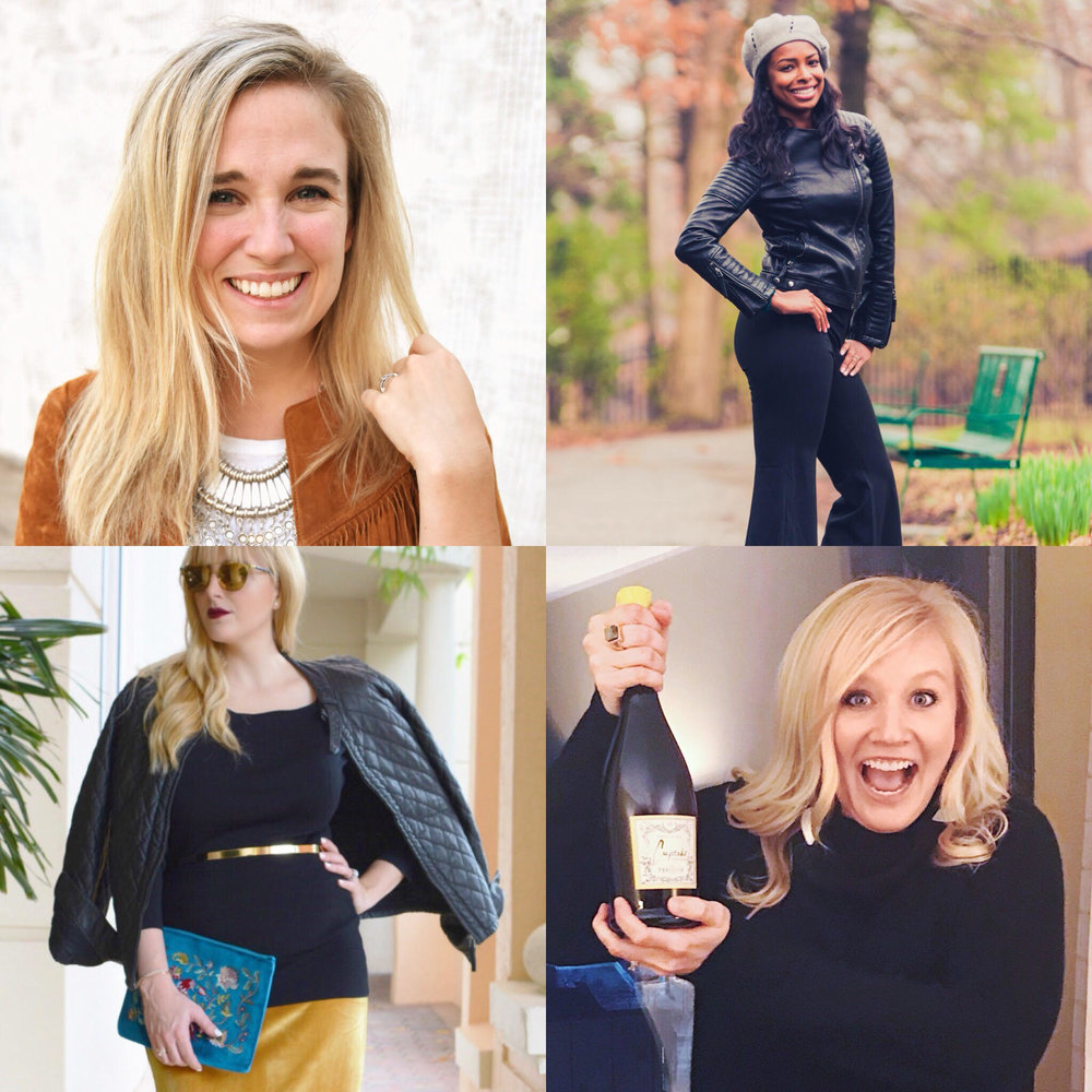 Follow these boss babes on IG! Visit my page to learn more about these crazies. From Top to Bottom, Left to Right: @maryrachelheard, @kayrablogs, @jessievbu, @thechicischick