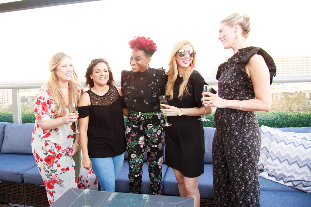 The Borrowed Babes Fashion Blog and Style Collective Rosé on the Roof Blogger Meet Up at River & Post