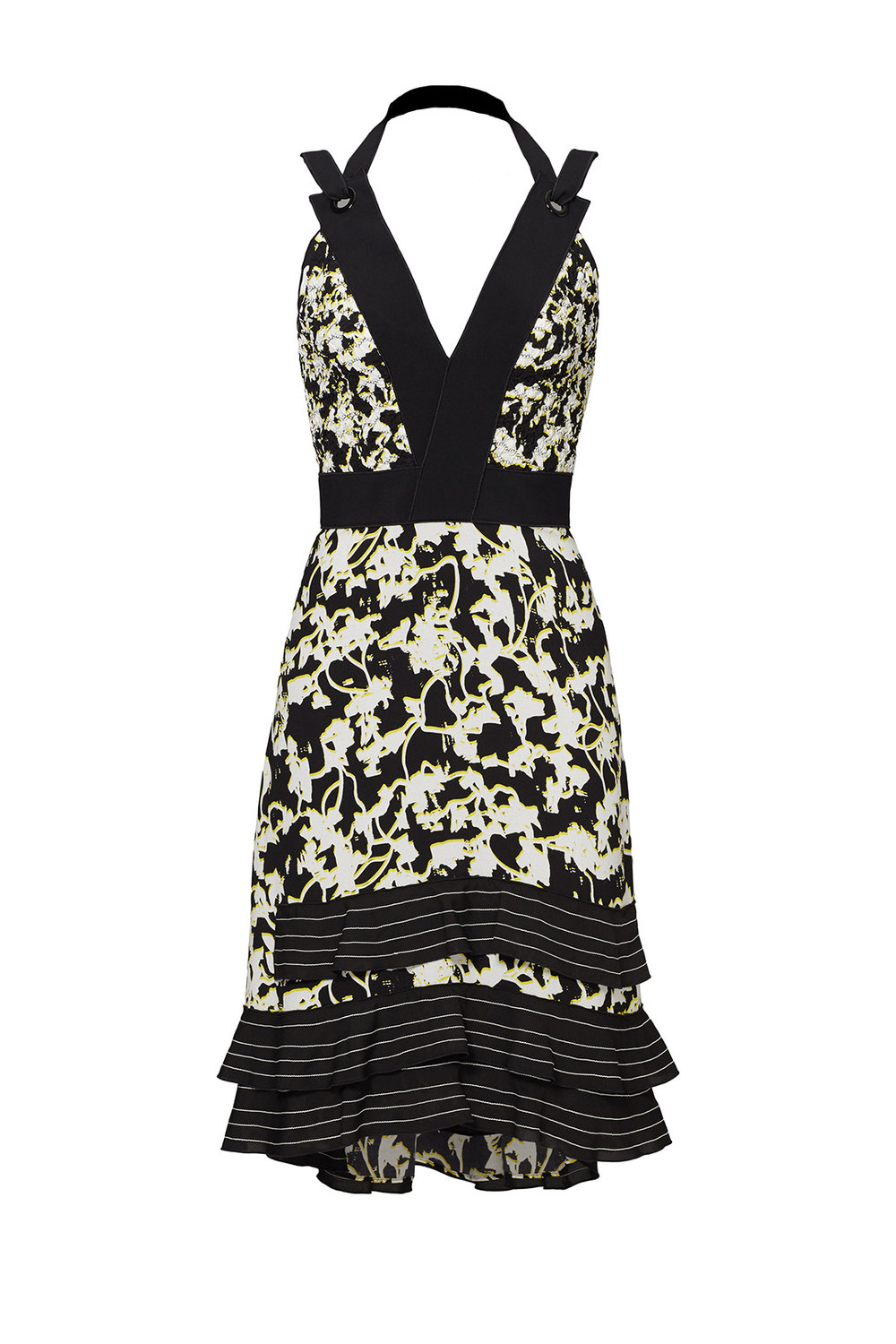 Yellow Vine Dress  Proenza Schouler Pansy Long Sleeve Dress from Rent the Runway | Top US fashion blog, The Borrowed Babes features the Best Spring Floral Dresses