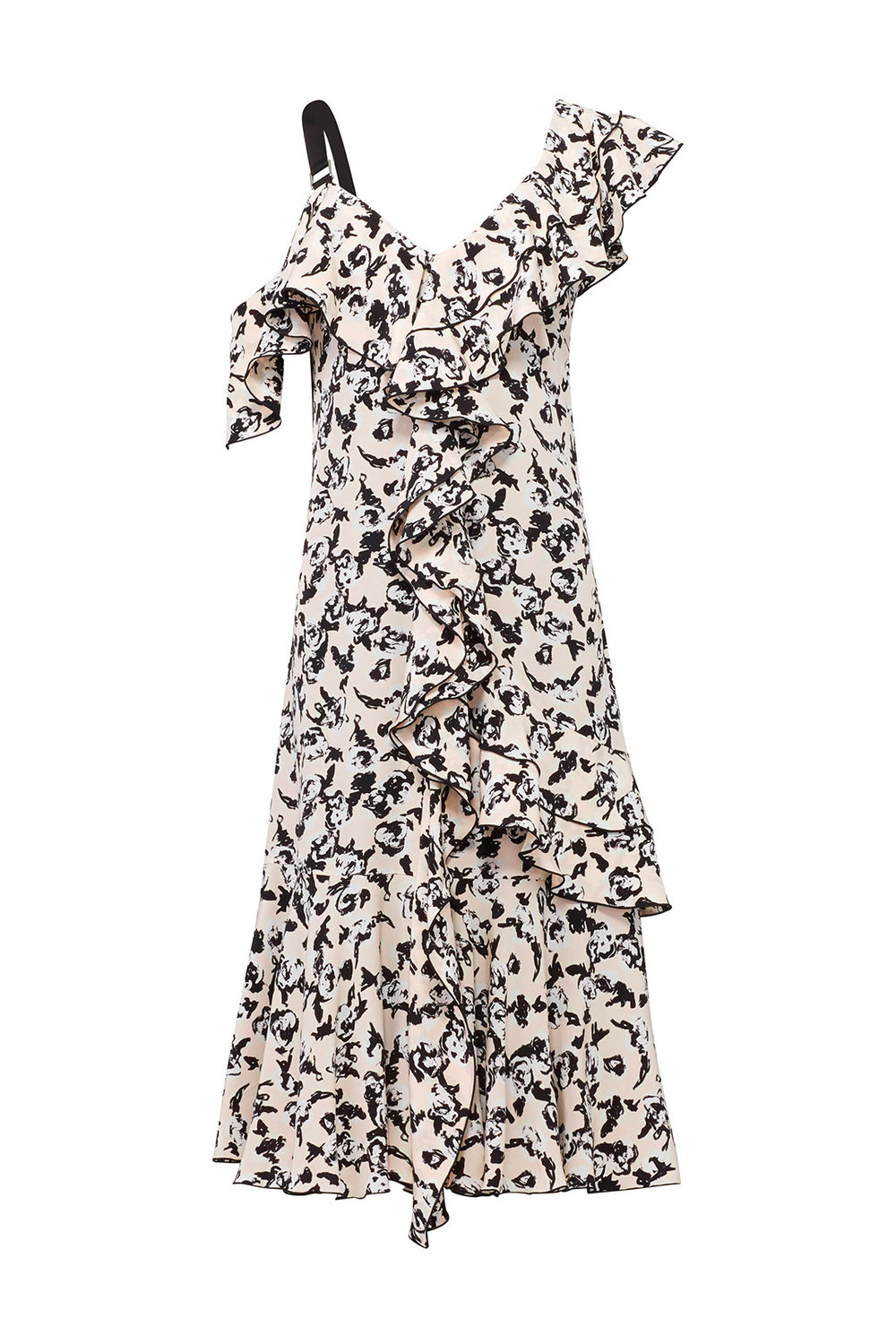 Scribble Rose Dress by Proenza Schouler Proenza Schouler Pansy Long Sleeve Dress from Rent the Runway | Top US fashion blog, The Borrowed Babes features the Best Spring Floral Dresses