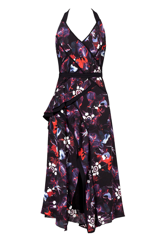 Copy of Floral Bodice Overlap Dress