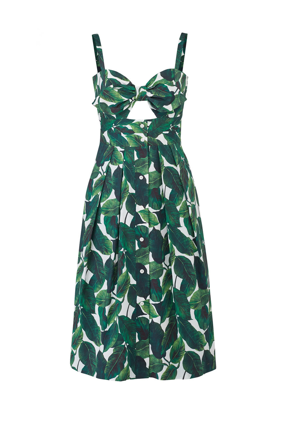 Milly Jordan Banana Leaf Dress Milly Banana Leaf Dress from Rent the Runway featured by top US fashion blog, The Borrowed Babes - Banana Leaf Trend