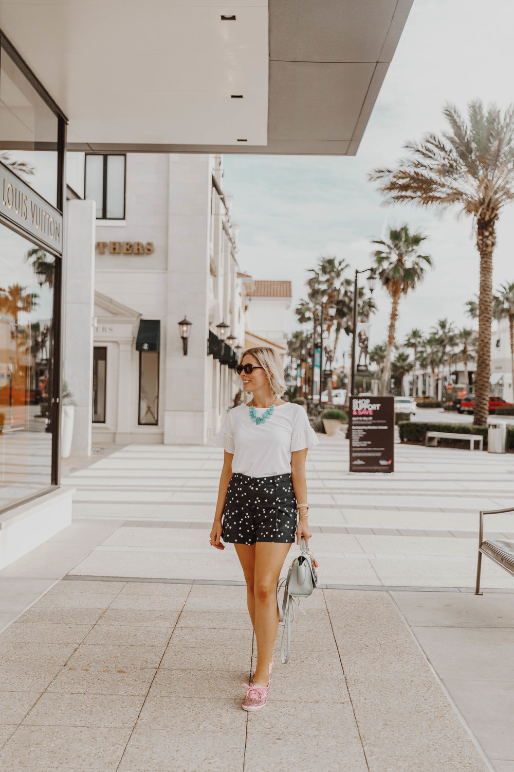 Stephanie Mack Kearney, writer of the Borrowed Babes Fashion Blog and Navy Wife shopping Military Appreciation Month at St Johns Town Center in Jacksonville, FL – A Simon Malls Property