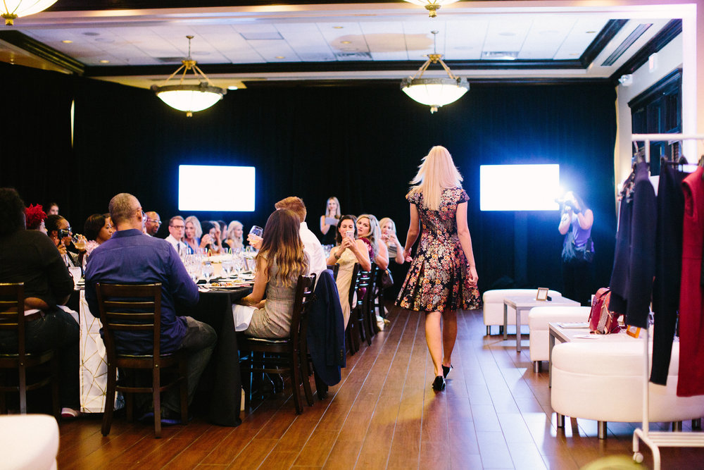 Stephanie Mack of The Borrowed Babes Fashion Blog at The St. Johns Town Center Influencer Dinner 2018